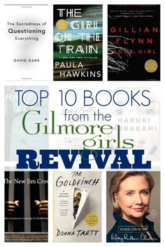 Top 10 Books from the Gilmore Girls Revival; Rory Gilmore is one of TV's greatest bookworms! Here is a list of books we think our fellow lover of books would have read since the original series! Rory Gilmore, Gilmore Girls, I Love Books, Good Books, Books To Read, My Books, Amazing Books, Reading Lists, Book Lists