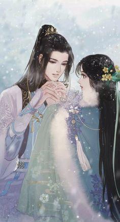 堆糖-美好生活研究所 Romantic Anime Couples, Fantasy Couples, Cute Anime Couples, Chinese Artwork, Chinese Drawings, Cute Couple Art, Anime Love Couple, Anime Couples Drawings, Anime Couples Manga