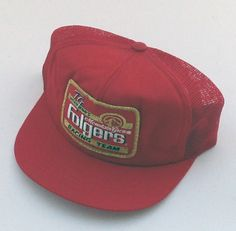 9db228618f2 For Sale  80s VINTAGE FOLGERS RACING TEAM MESH SNAPBACK HAT Racing Team