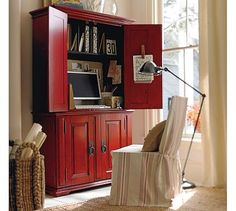 home office armoire. Lewis, This Is What I Have In Mind For The Office Campton Smart Technology™ Armoire - Desa Ming Red Home