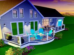 Gray and white Deck idea White Deck, Grey And White, Gray, 3 D, Michigan, Layout, Outdoor Decor, Projects, Ideas