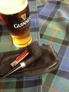 My Peterson pipe and a black and tan for sipping.