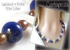 *LAPISLAZULI* Kette * Perlen * 925er von Cartapesta auf DaWanda.com