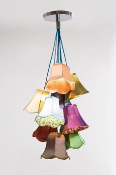Colorful ceiling light idea for a small apartment.  Might look good in a reading corner with a comfy chair.
