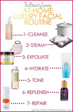 THE BEST AT-HOME FACIAL PRODUCTS & ROUTINE  www.ripplemassage...