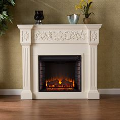 You'll love the Galgorm Parks Electric Fireplace in Ivory at Wayfair - Great Deals on all Furniture products with Free Shipping on most stuff, even the big stuff.