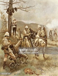 Fine art : Artillery of British colonial army, 1866, British colonial wars, Africa, 19th century