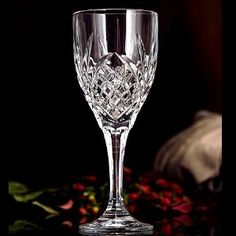 SET OF 4 CRYSTAL DUBLIN GOBLETS,