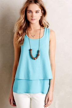 Layered Aven Tank - anthropologie.com