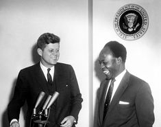 President John F. Kennedy Meets with the President of the Republic of Ghana, Osagyefo Dr. Kwame Nkrumah.  -- March 8, 1961