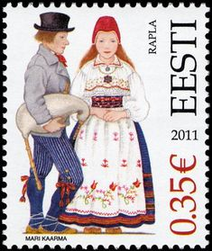 Rapla, Estonia, horizontal stripes as well as checkered skirts became popular in the second part of the 19th century.