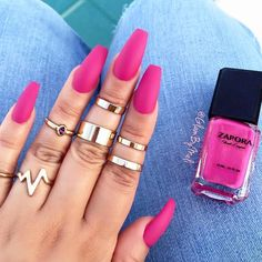 """The Perfect Shade of Pink! Serving! Our """"BOMBSHELL"""" Nail Lacquer MATTE Top Coat #ZAPORA #ZAPORANailLacquer www.shopzapora.com"""