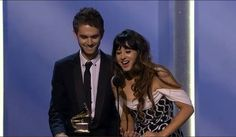 Foxes And Zedd at the Grammys 2014
