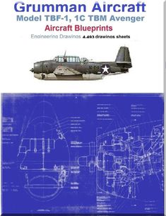 Grumman TBF-1, 1C TBM Avenger Aircraft Blueprints Engineering Drawings - DVDs - Aircraft Reports - Manuals Aircraft Helicopter Engines Propellers Blueprints Publications