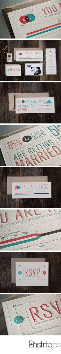 Another awesome letter-pressed wedding invite.