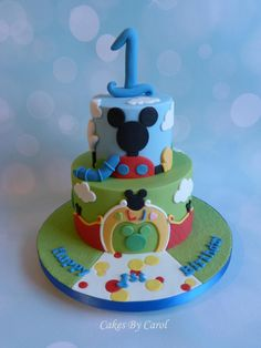 Mickey Mouse LJs 1st Birthday - Cake by Carol