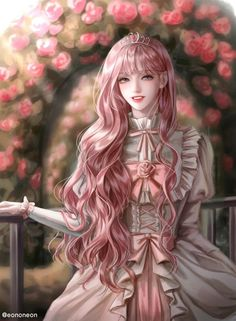 Pink Hair Anime, Blonde Anime Girl, Dark Anime Girl, Manga Anime Girl, Cool Anime Girl, Anime Girl Drawings, Anime Oc, Anime Chibi, Kawaii Anime