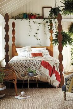 I love the actual bed posts! They're beautiful and would perfectly fit in with my home-style