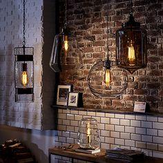 Buy John Lewis Colbert Glass and Brass ES Pendant Light Online at johnlewis.com