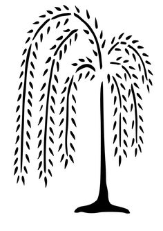 Weeping Willow Tree Wall Decal - Nursery Wall Decals - Home Decor - Modern Wall…