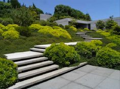 floating steps up a slope precast concrete pavers - Google Search