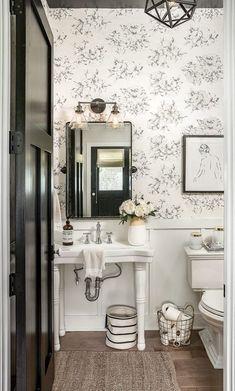 powder toile farmhouse bathroom floral modern chicago lighting pendant pedestal sink vanities designs vanity january