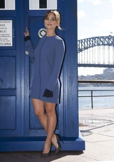 Doctor Who Tour Sydney - Jenna Coleman Jenna Coleman, Beautiful Female Celebrities, Beautiful Actresses, Doctor Who Clara, Doctor Who Companions, Clara Oswald, Geronimo, Famous Women, Sexy Legs