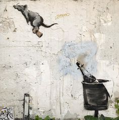 East Urban Home Banksy Graffiti Rat Cork Launch from Champagne Dinner Napkin Size: x Material: Poly Twill Banksy Graffiti, Street Art Banksy, Arte Banksy, Banksy Rat, Banksy Artwork, Urban Graffiti, Bansky, Banksy Quotes, Art Quotes