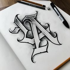 Chicano Tattoos Lettering, Tattoo Name Fonts, Tattoo Fonts Alphabet, Tattoo Lettering Styles, Graffiti Lettering Fonts, Tattoo Script, Lettering Design, Chicano Style Tattoo, Letter Tattoos