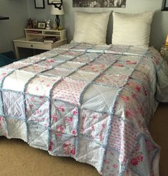 Custom Rag Quilt Made to Order You Pick Fabric You pick Size