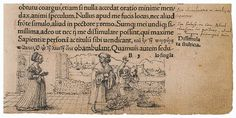 A Scholar Treads on a Market Woman's Basket of Eggs, marginal drawing by Hans Holbein the Younger, 1515