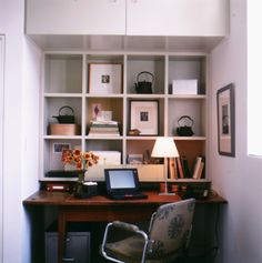 Cubbies are another storage option if you are comfortable with having your items in plain sight.