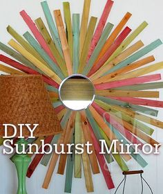 We really needed a large piece of art on one of the bare walls at the beach house, so we decided a sunburst mirror would do the trick. Description from mdesign-group.com. I searched for this on bing.com/images