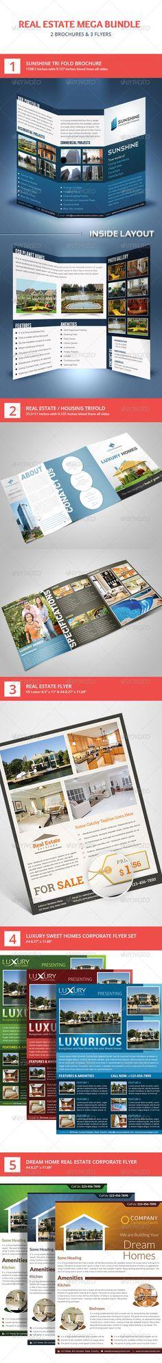 Real Estate Flyer & Brochure Mega Bundle