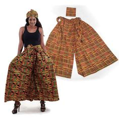 African Women, African Fashion, African Style, Church Attire, African Attire, African Outfits, Pantsuits For Women, African Fabric, Palazzo Pants