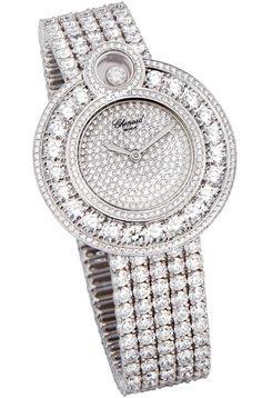 Chopard Happy 8 diamond strap watch