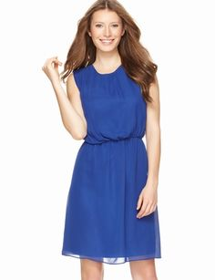 Easy Draped-Bodice Dress