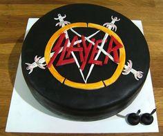 Slayer cake 40th Birthday Cakes For Men, Dad Birthday, Birthday Ideas, Birthday Parties, Drum Cake, Guitar Cake, Cake Art, Cake Designs, Cupcake Cakes
