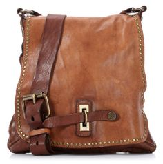 Campomaggi Lavata Shoulder Bag Leather cognac 29 cm - C1226VL-1702 - Designer Bags Shop - wardow.com