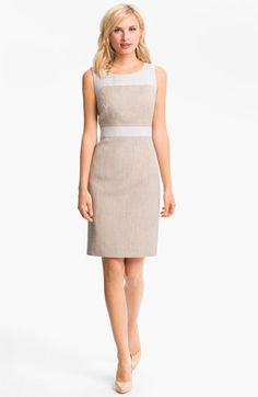 Love this business casual dress. Classiques Entier 'Sabin' Tweed Dress available at Nordstrom