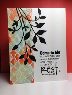 Fresh Foliage, MB, Come to Me, Verve, by beesmom - Cards and Paper Crafts at Splitcoaststampers