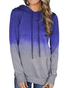 Shop a great selection of Tkria Women's Pullover Long Sleeve Ombre Hoodie Casual Pocket Tunic Sweatshirt. Find new offer and Similar products for Tkria Women's Pullover Long Sleeve Ombre Hoodie Casual Pocket Tunic Sweatshirt. Sweat Shirt, Fall Collection, Neckline Designs, Sporty Outfits, Fall Outfits, Casual Fall, Pretty Outfits, Pretty Clothes, Types Of Sleeves