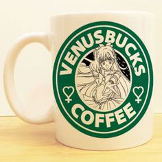 "Sailor Venus' ""Venusbucks Coffee"" ★Ceramic Mug 11oz ★Dishwasher/microwave safe ★Doesn't scratch off ★Message me if you want any custom mugs! Contact us at shopwolffawn@gmail.com Instagram: @shopwolffa"