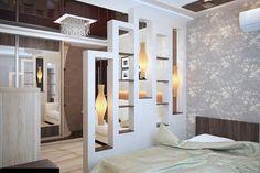 paroi pour la chambre à coucher plus d'intimité dans votre espace