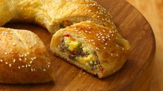 The spiral slices of egg and sausage in a flaky crust are almost too pretty to eat--but dig in!  This breakfast ring is not to be missed.