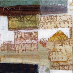 cosas diarias : — (via anne davies - gallery two) Painting Collage, Collage Art, Paintings, Collages, Contemporary Artists, Modern Art, Anne Davies, Textiles, Love Art