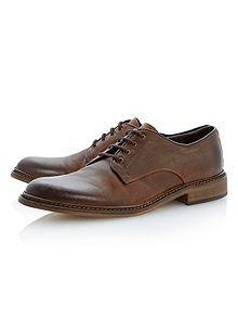 Brash lace up plain gibson shoes
