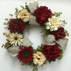 Hand-crafted wreath Silk Petals of Amityville