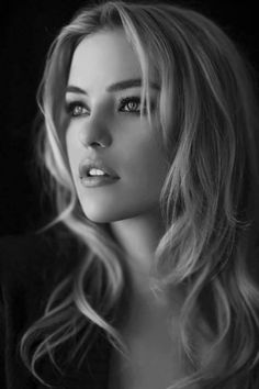 Beautiful Blonde in B&W...