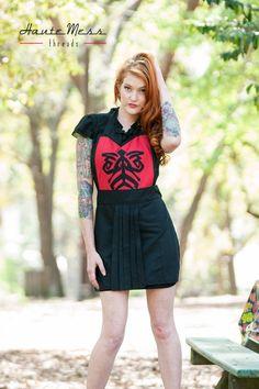 Star wars Darth Maul inspired cosplay apron by HauteMessThreads,